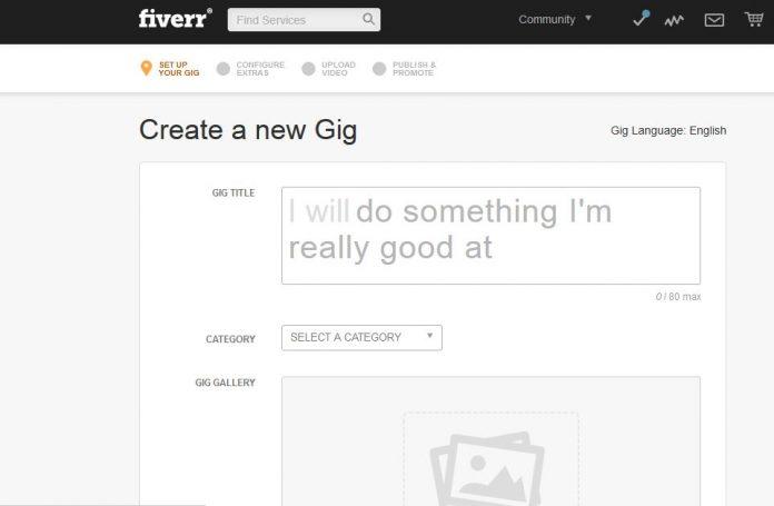 create a fiverr gig