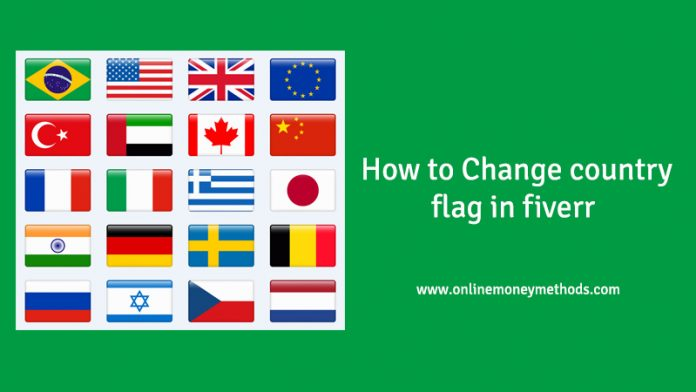 Change country flag in fiverr