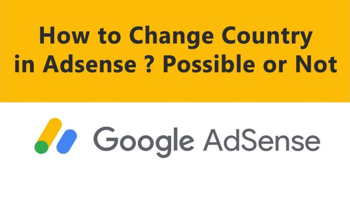 change country in adsense