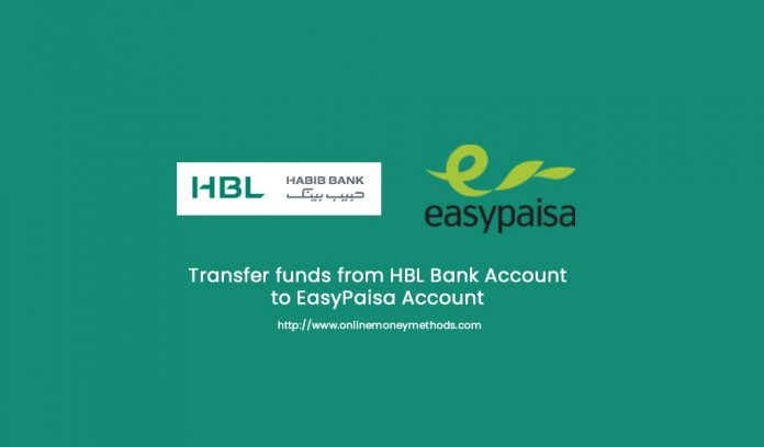 transfer funds from hbl to easypaisa
