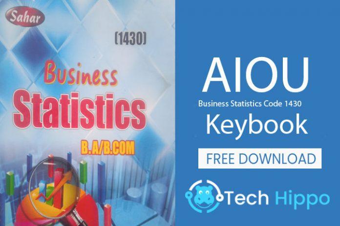Business statistics code 1430 Keybook