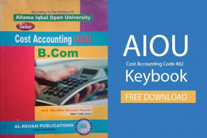 Cost Accounting code 462 keybook PDF