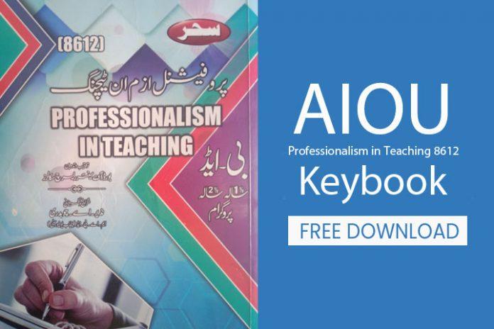 Professionalism in Teaching 8612 Keybook pdf download