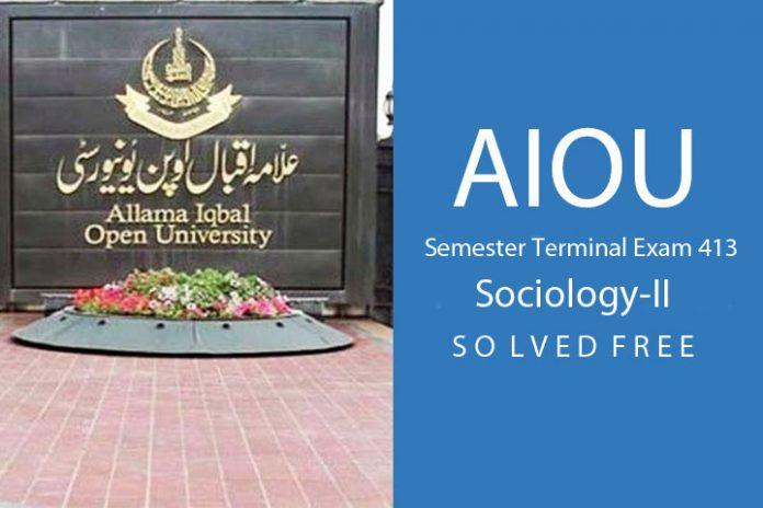 Sociology-II exam free download