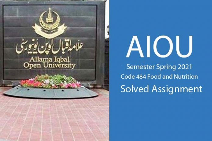 Aiou code 484 semester spring 2021 solved assignment